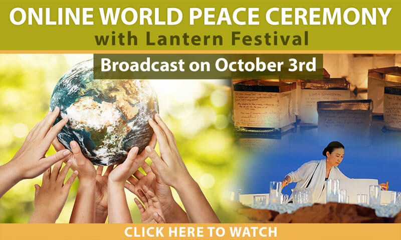 World Peace Ceremony - homepage banner mobile
